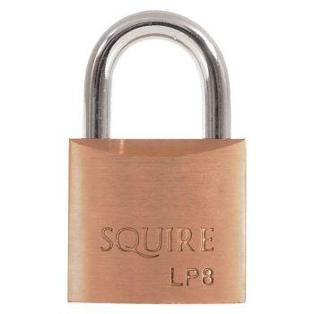 Squire LP8 - Leopard Range - 30mm Solid Brass Padlock - Open Shackle