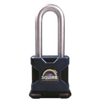 "Squire SS50S/2.5KA Restricted Profile - Stronghold 50mm Hardened Steel Padlock - Long Shackle 2.5"" - Keyed Alike"