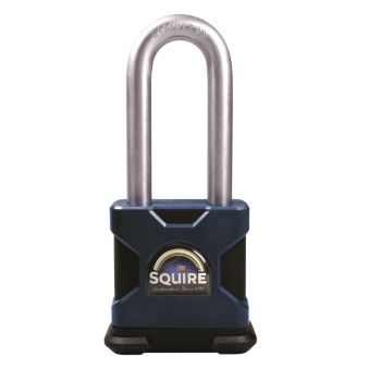"Squire SS50S/2.5MK - Stronghold 50mm Hardened Steel Padlock - Long Shackle 2.5"" - Master Keyed"