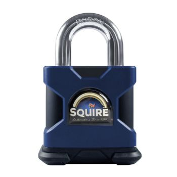 Squire SS50S/MARINE/KA Restricted Profile - Stronghold Marine 50mm Padlock - SS Open Shackle - keyed Alike