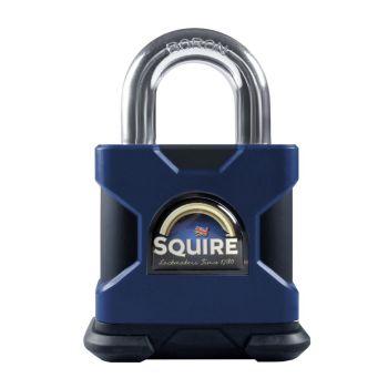 Squire SS50S/MARINE/KA - Stronghold Marine 50mm Padlock - SS Open Shackle - keyed Alike