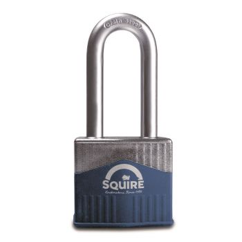 """Squire Warrior 55mm Padlock - Long Shackle 2.5"""""""