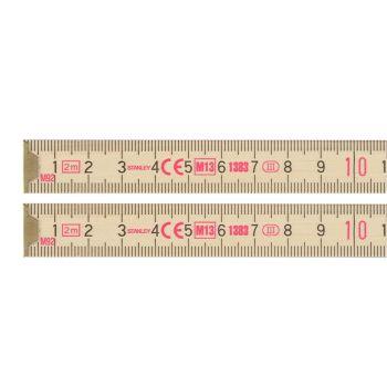 Stanley Wooden Folding Rule 2m - STA035455