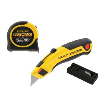 Stanley Tools FatMax® Triple Pack - Tape, Retractable Knife and Blades
