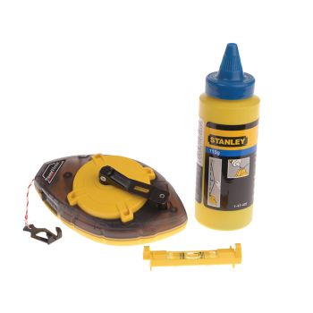 Stanley Power Winder Chalk Line 30m , Chalk & Level - STA047465