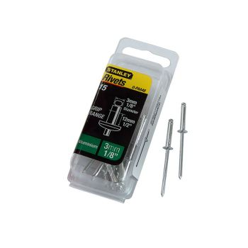 Stanley Aluminium Rivets Long 3mm (15) - STA1PAA48