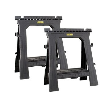 Stanley Folding Sawhorses (Twin Pack) - STA170713