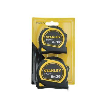 Stanley Tylon Pocket Tapes 5m/16ft + 8m/26ft (Twin Pack) - STA998985