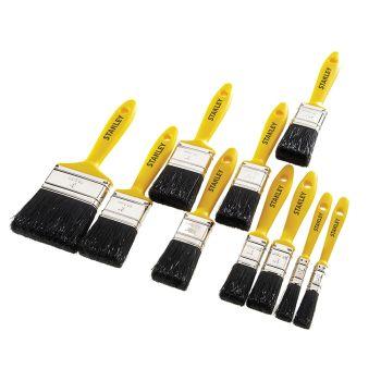 Stanley Hobby Paint Brush Set of 10 12(2), 25(2), 38(3), 50(2) & 75mm - STAHOBBY10