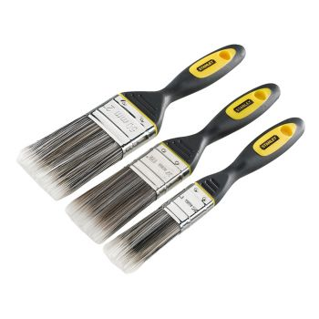 Stanley DynaGrip Synthetic Brush Pack Set of 3 25, 38 & 50mm - STASTPPDS3Z