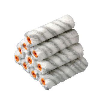 Stanley Medium Pile Silver Stripe Sleeve 100mm (4in) 10 Pack - STASTRMGR10