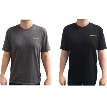 Stanley  T-Shirt Twin Pack Grey & Black - L