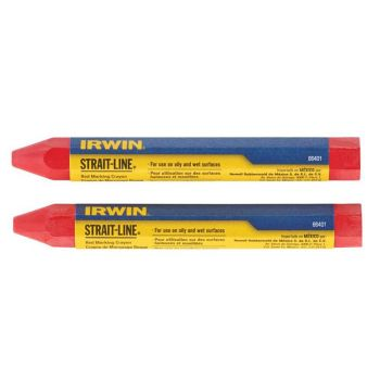 IRWIN Crayons Red (Card of 2) - STL666012