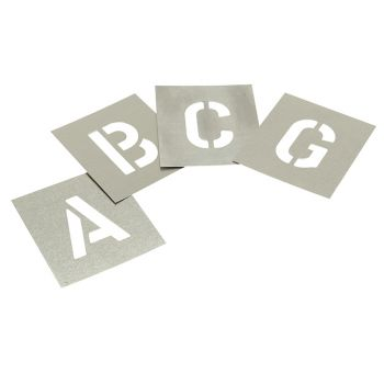 Stencils Set of Zinc Stencils - Letters 6in - STNL6