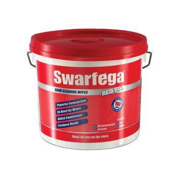 Swarfega Red Box Heavy-Duty Trade Hand Wipes (Tub 150) - SWASRB150W