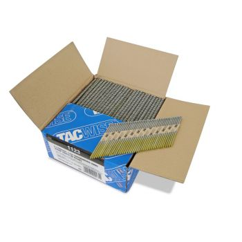 Tacwise 3.1 90mm Strip Nails Paper Collated CE/12 Micron Galv, 34º 2200 Pack - 1123