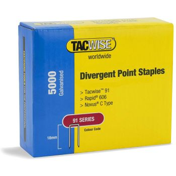 Tacwise 91 Series - 18mm Divergent Point - Galv - 1616