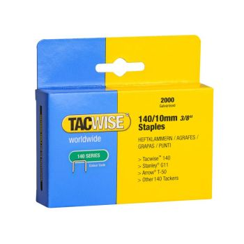 Tacwise Type 140 - 10mm Staples (2,000 Pack) - 0347