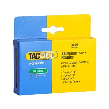 Tacwise Type 140 - 6mm Staples (2,000 Pack) - 0345
