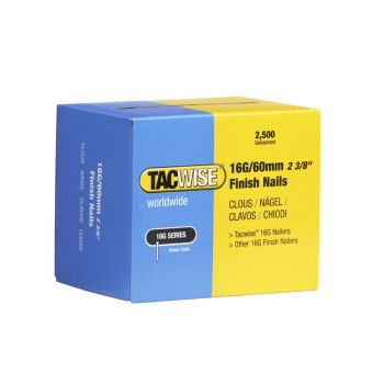 Tacwise Type 16G - 60mm Finish Nails (2,500 Pack) - 0300