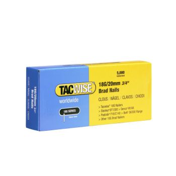 Tacwise Type 18G - 20mm Brad Nails (5