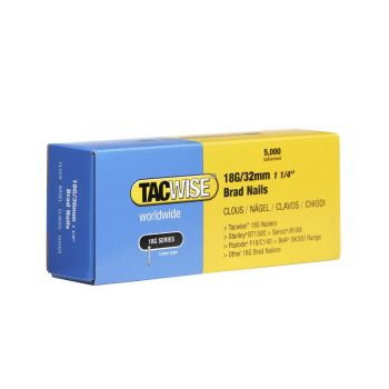 Tacwise Type 18G - 32mm Brad Nails (5,000 Pack) - 0398