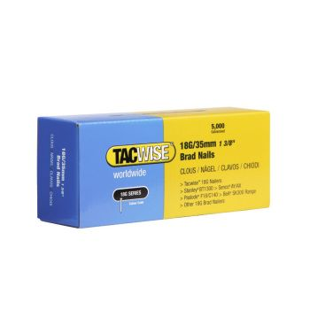 Tacwise Type 18G - 35mm Brad Nails (5,000 Pack) - 0399