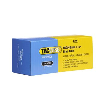Tacwise Type 18G - 40mm Brad Nails (5