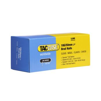 Tacwise Type 18G - 50mm Brad Nails (5