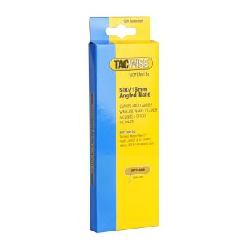 Tacwise Type 500 - 15mm 18G Angled Nails (1,000 Pack) - 0971