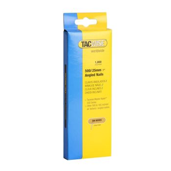 Tacwise Type 500 - 25mm 18G Angled Nails (1