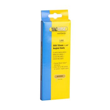 Tacwise Type 500 - 35mm 18G Angled Nails (1,000 Pack) - 0482