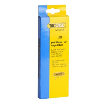 Tacwise Type 500 - 40mm 18G Angled Nails (1,000 Pack) - 0483