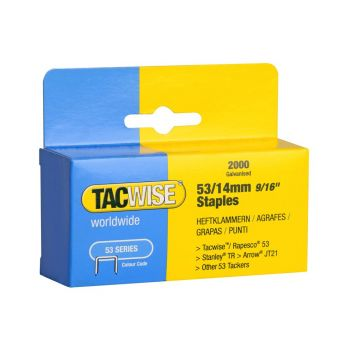 Tacwise Type 53 - 14mm Staples (2,000 pack) - 0338