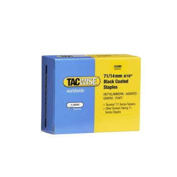 Tacwise Type 71 - 14mm Black Staples (10,000 Pack) - 0374