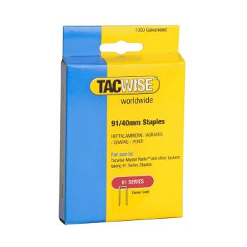 Tacwise Type 91 - 40mm Staples (1,000 Pack) - 0768