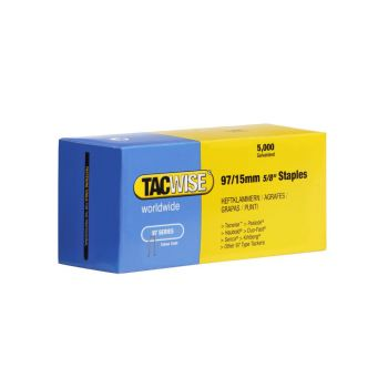 Tacwise Type 97 - 15mm Narrow Crown Staples (5