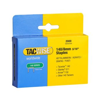 Tacwise Type 140 - 8mm Staples (2,000 Pack) - 0346