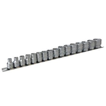 Teng M3816 Socket Clip Rail Set of 16 Metric 3/8in Drive - TENM3816