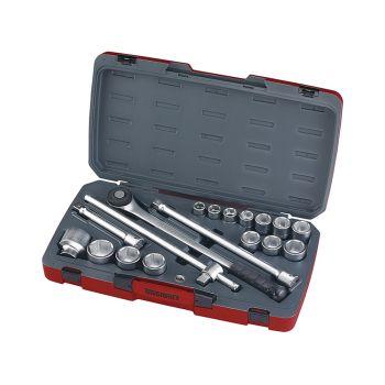 Teng Socket Set of 18 Metric 3/4in Drive - TENT34186