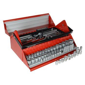 Teng Mega Rosso Tool Kit Set of 187 1/4, 3/8 & 1/2in - TENTC187