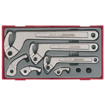 Teng 8 Piece Hook & Pin Wrench Set - TENTTHP08