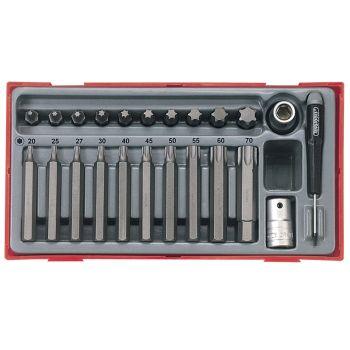 Teng 23 Piece TX Bit Socket Set - TENTTTX23