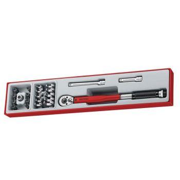 Teng 3/8in Drive Torque Wrench Set, 22 Piece - TENTTX3892