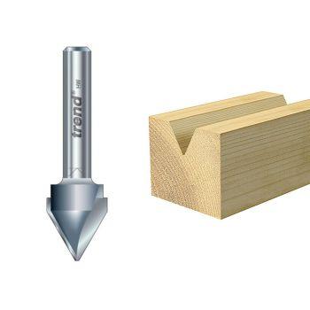 Trend 11/5 x 1/4 TCT V Groove Cutter 60° 10.3 x 12.7mm - TRE11514TC