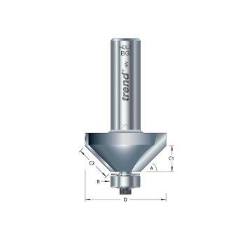 Trend 46/38 x 1/2 TCT Bearing Guided Chamfer 45° 50 x 19mm - TRE463812TC