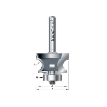 Trend 9/73 x 1/4 TCT Bearing Guided Corner Bead Cutter 7.0 Radius - TRE97314TC