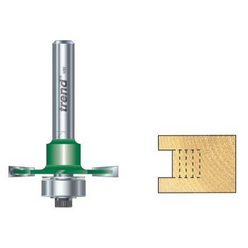 Trend C145 x 1/4 TCT Bearing Guided Slotting Cutter 6.3mm - TREC14514TC