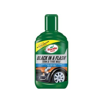 Turtle Wax Black in a Flash Trim & Tyre Wax 300ml - TWX52812