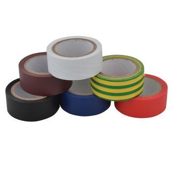 Unibond Electrical Tape (6 Colour Pack) 19mm x 3.5m - UNI1415390